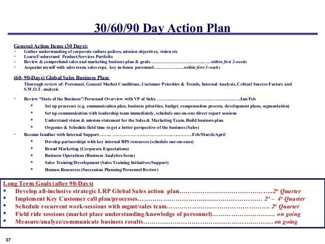 30 60 90 Day Plan Template Sales Manager Google Search | 306090