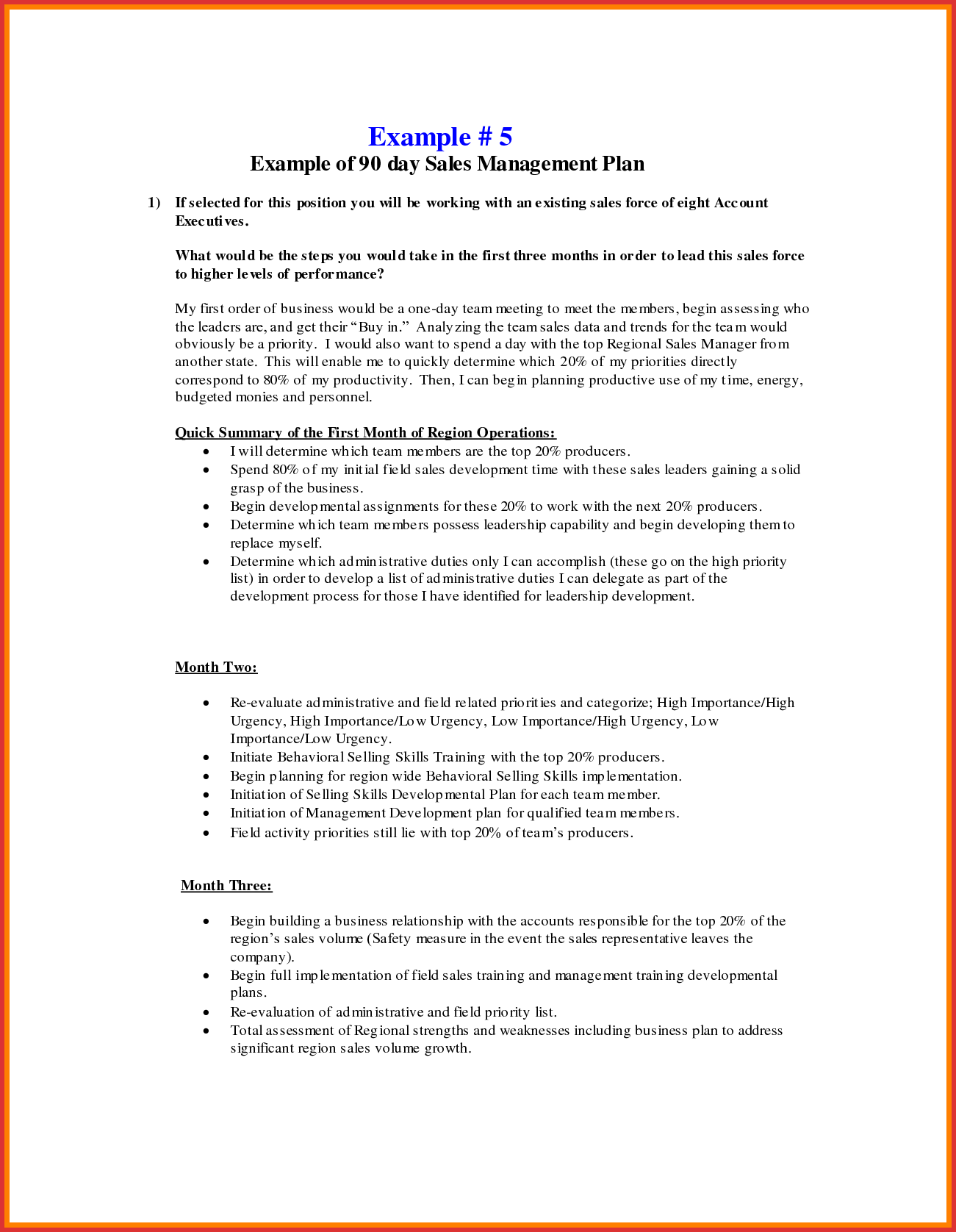 Unique 30 60 90 Day Sales Plan Template Examples | job latter