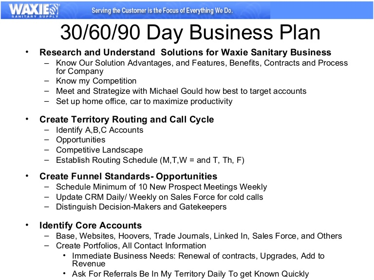 30 day business plan 30 60 90 day sales plan template free sample