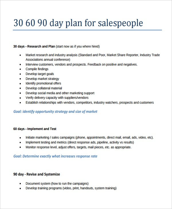 Business Plan Template For Printing Industry 30 60 90 Day S