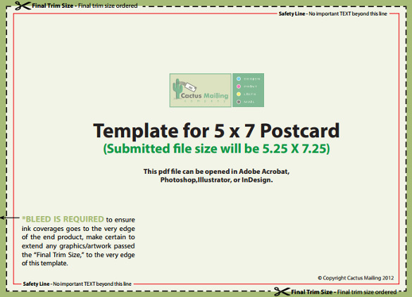 5×7 Postcard Template | beneficialholdings.info