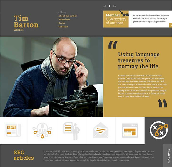 15+ Writers Website Themes & Templates | Free & Premium Templates