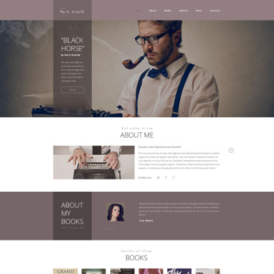 Author Website Template