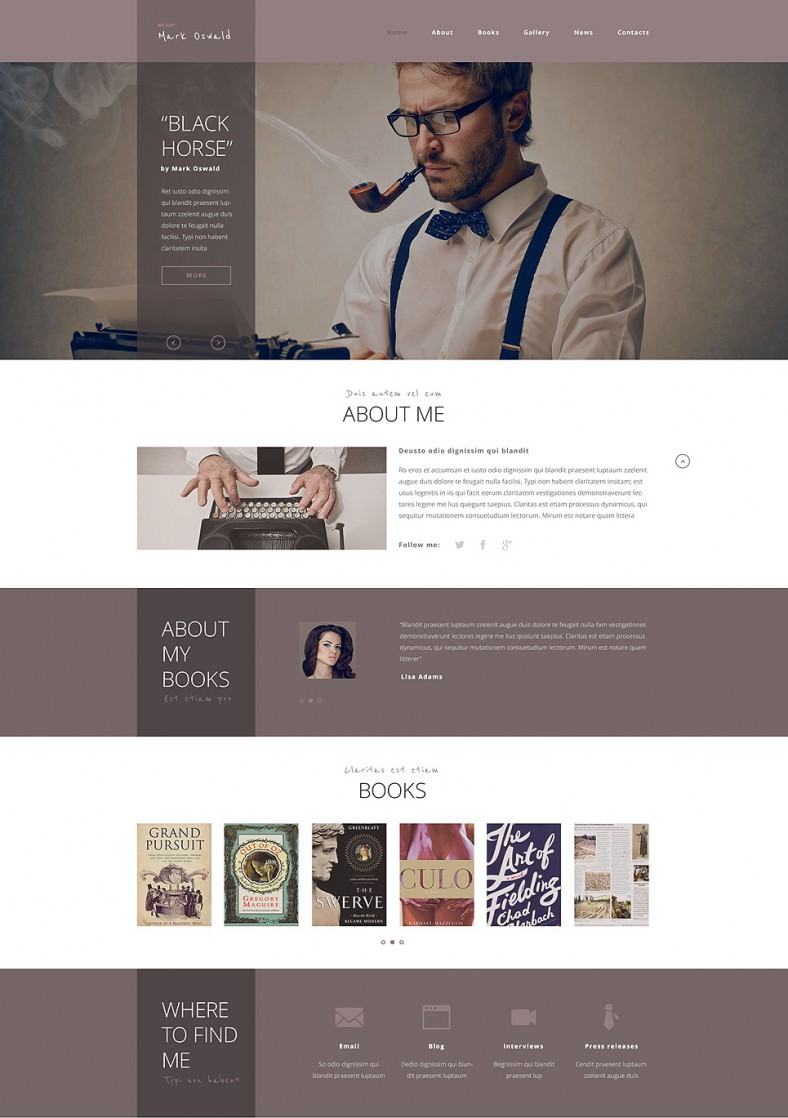 12+ Most Useful Author Website Themes & Templates | Free & Premium