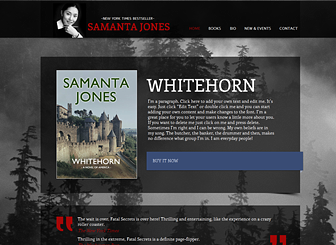 Author Website Template | WIX