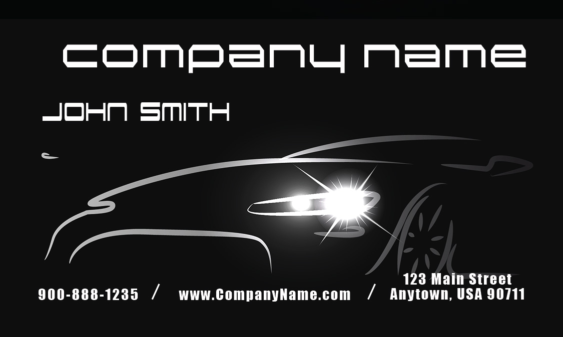 Auto Dealer Business Cards Dealer Automotive Business Card Design