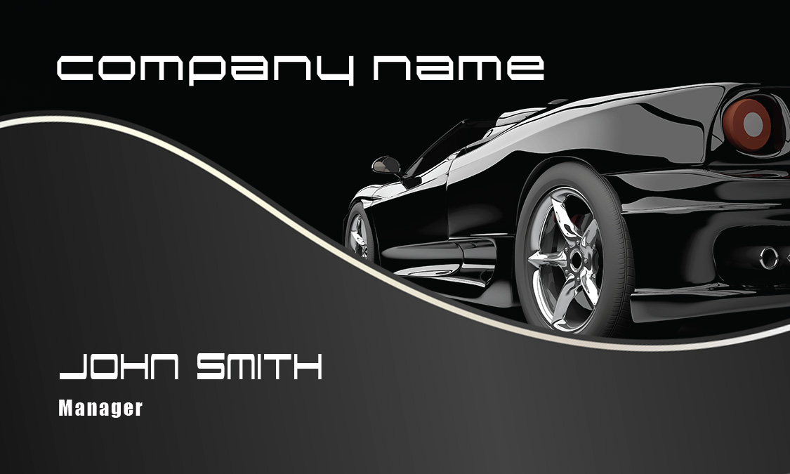 Stylish Black Corvette Automotive Business Card   Design #501021