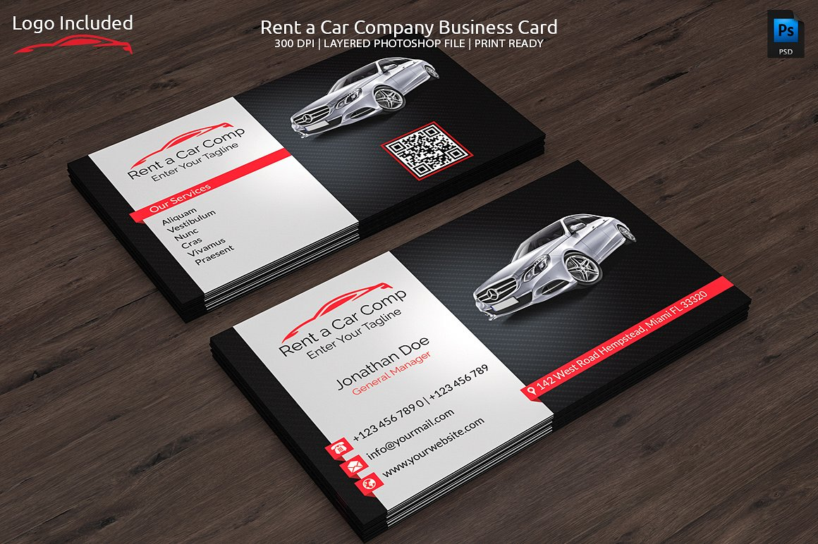 Rent a Car Business Card ~ Business Card Templates ~ Creative Market