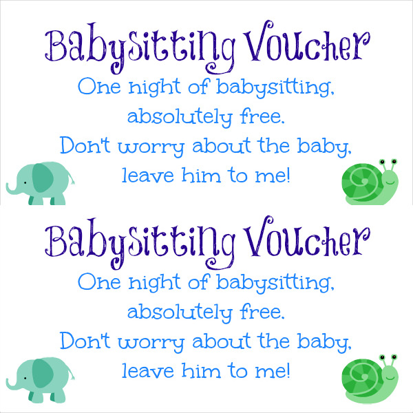 free babysitting gift certificate template ba sitting coupon