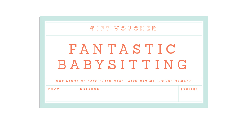 free babysitting gift certificate template basitting gift