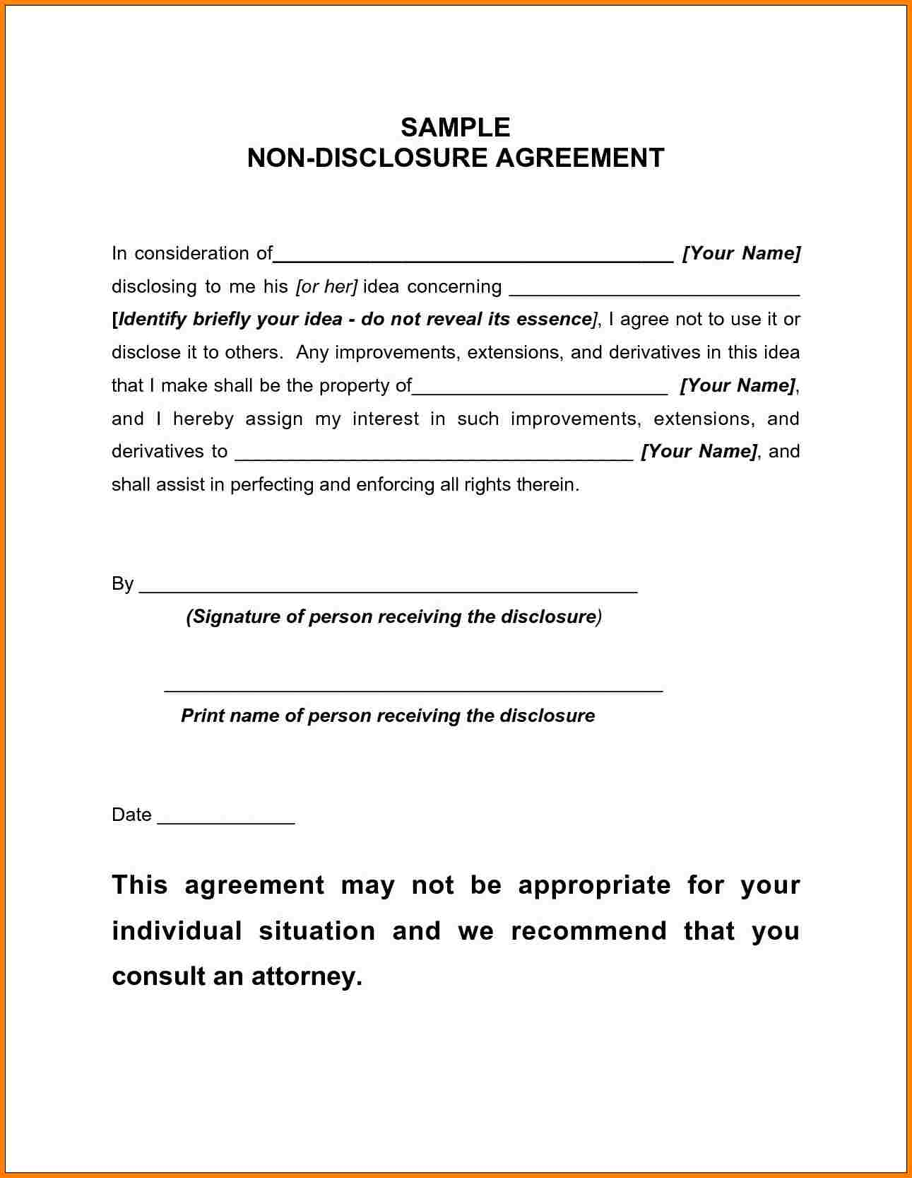 basic non disclosure agreement pdf – down town ken more