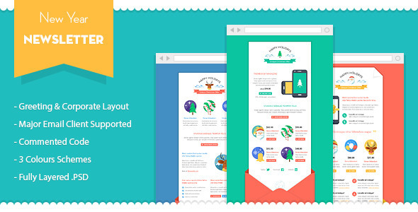 20+ Best New Year Newsletter Templates 2014   DesignMaz
