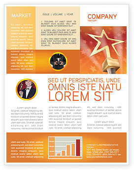 Star Of The Best Newsletter Template for Microsoft Word & Adobe