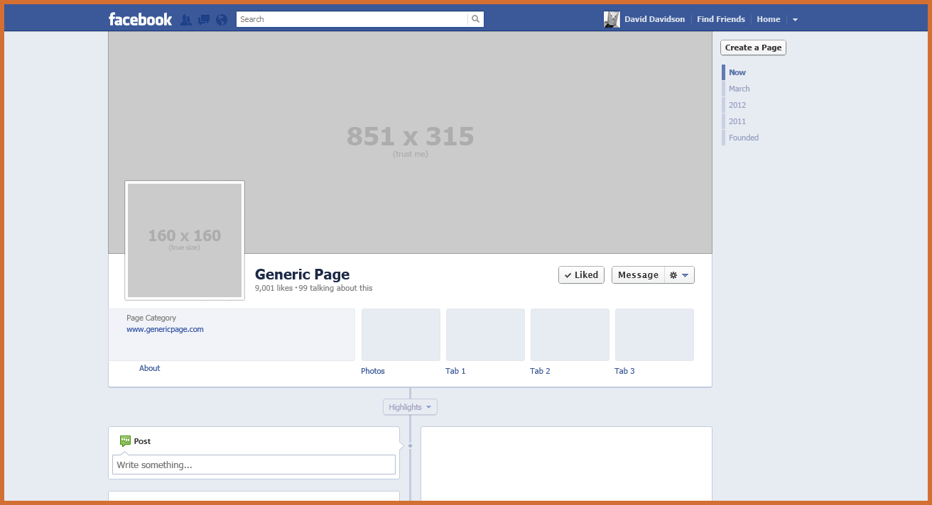 blank facebook page template   Roho.4senses.co