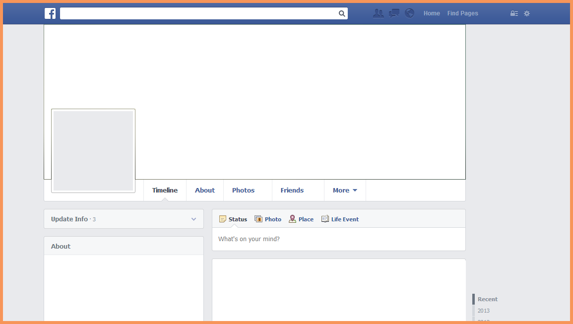 Blank Facebook Page.facebook Page Template D8cnla8z.png
