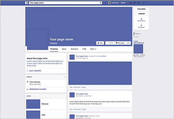 facebook about template   Roho.4senses.co