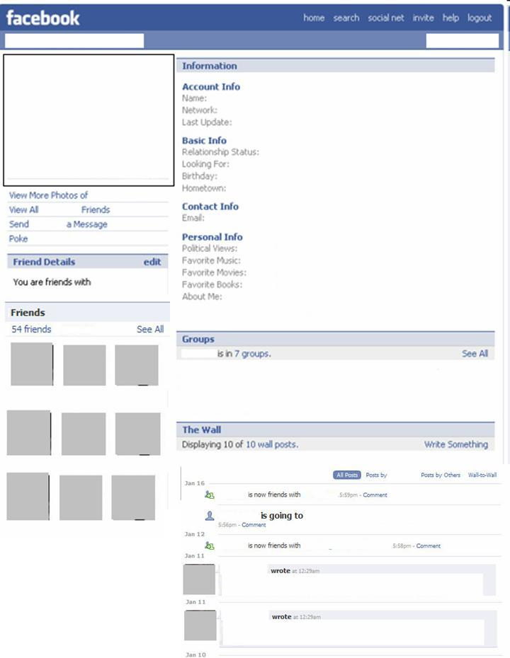 blank facebook template blank facebook profile page template free