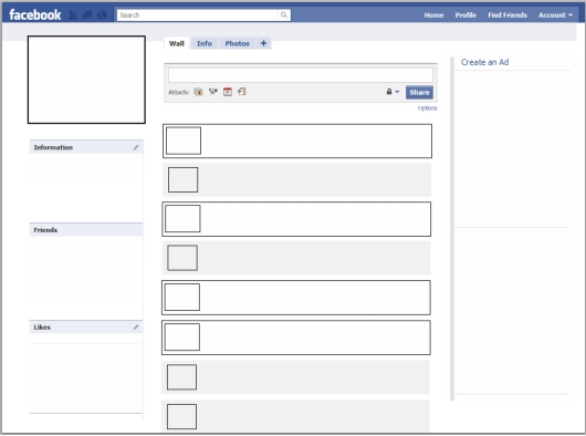Facebook Blank Page.blank Facebook.   Pay Stub Template