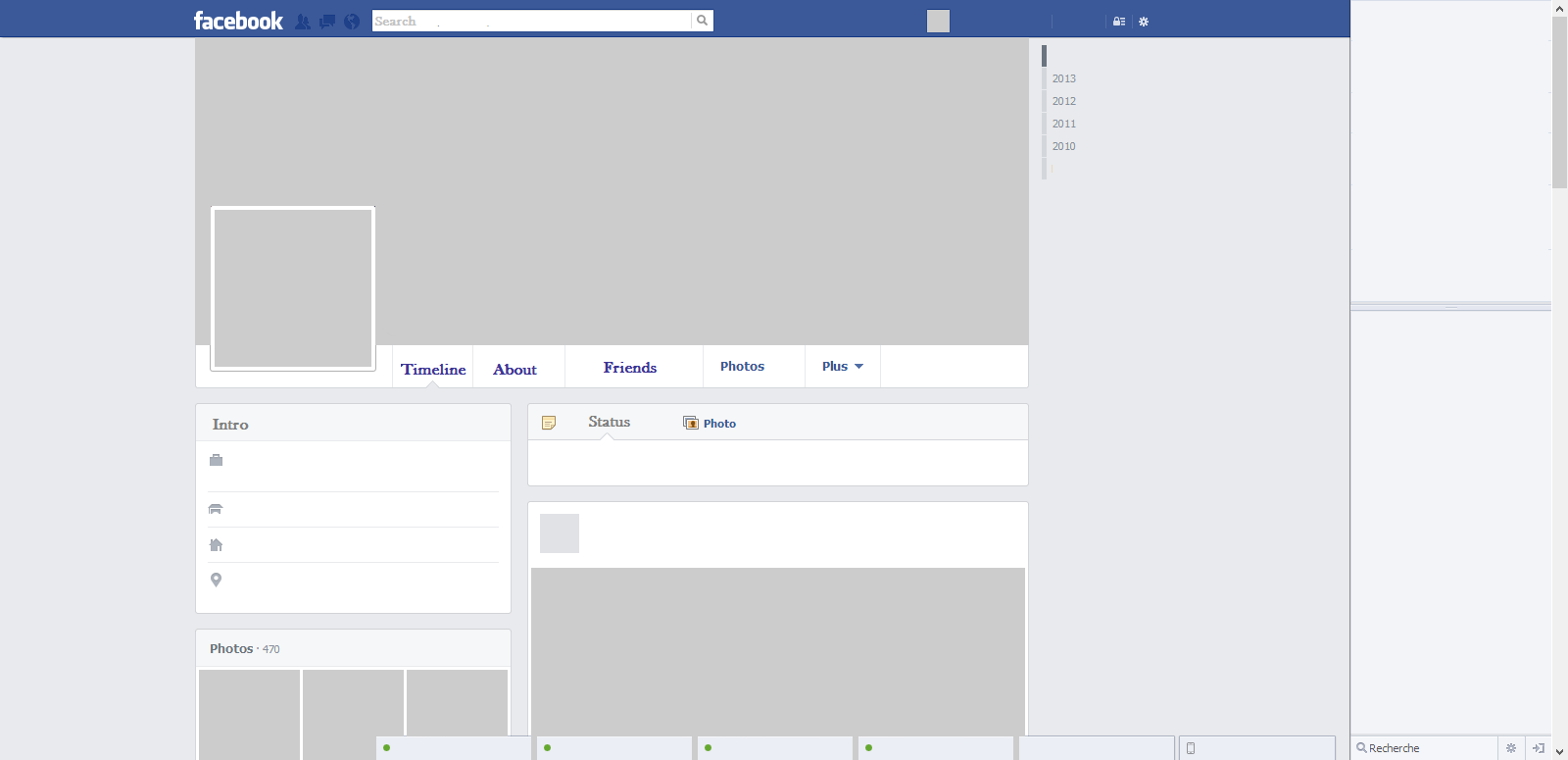 Facebook username page is blank | Files from users |Blank Facebook Timeline Page