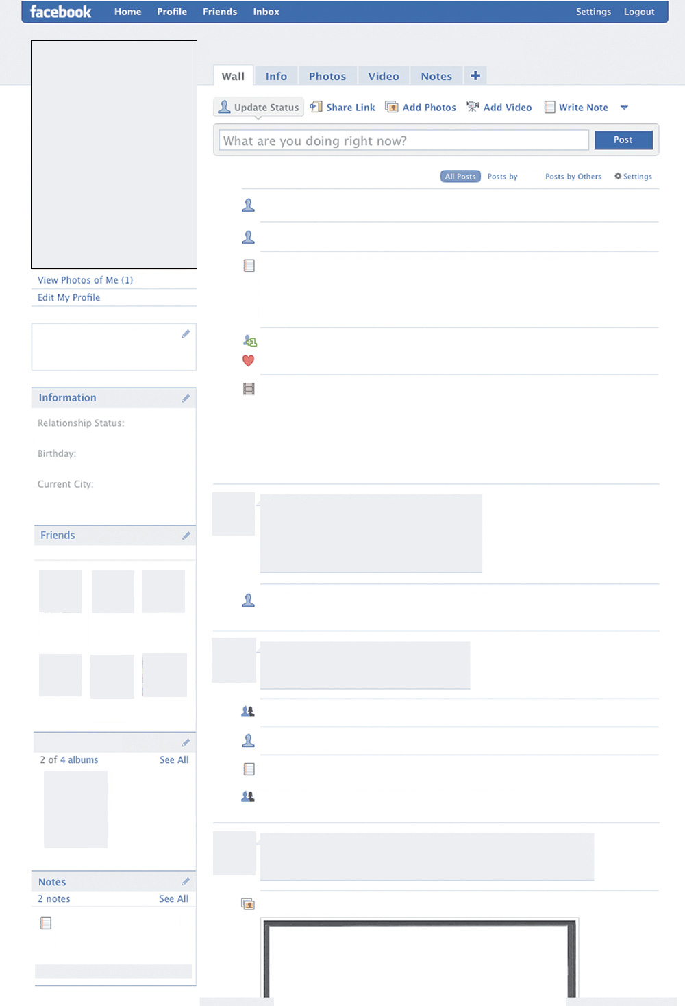 Blank Facebook page by svwestray   Teaching Resources   Tes