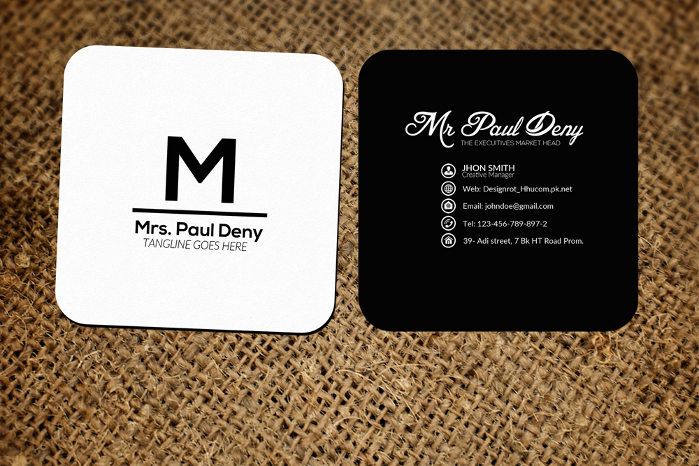 Small Social media Business Card by Des | Design Bundles