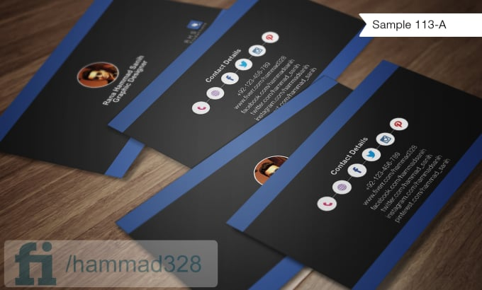 Make social media business cards by Hammad328