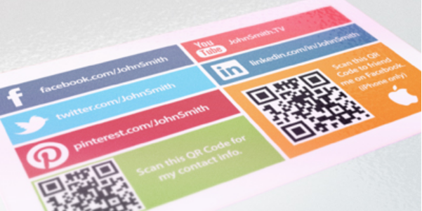 15 Stylish Social Media Business Cards Designs Social Network