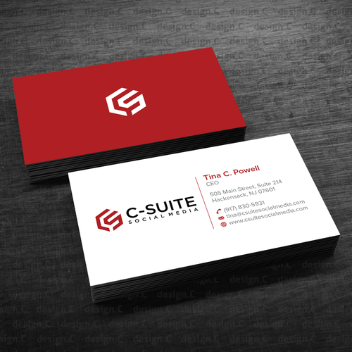 Design a modern business card for C Suite Social Media | Business