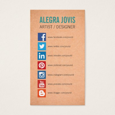 business cards with social media icons business card template with