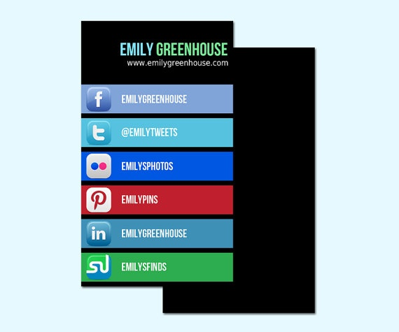 23 best Business Cards with Social Media Contact Information