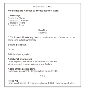 46 Press Release Format Templates, Examples & Samples   Template Lab