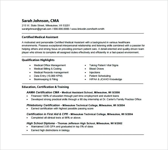 Medical Assistant Resume Registered Medical Assistant Resume