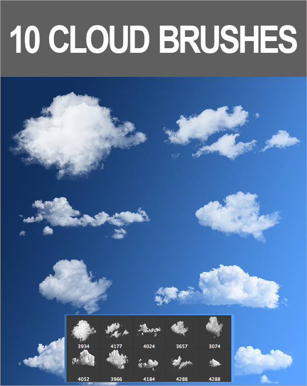 cloud photoshop brushes   Physic.minimalistics.co