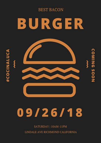 Burger Coming Soon Flyer   Templates by Canva