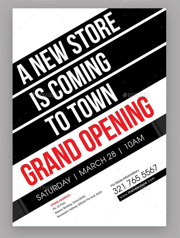 store opening flyer template 11 coming soon flyer templates free