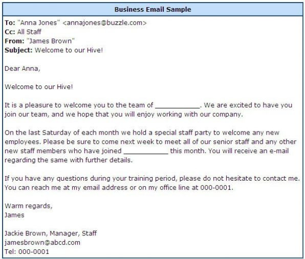 Company email format business sample absolute photo e