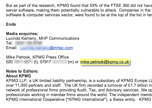 KPMG found leaking data, as accuses other companies of doing the same