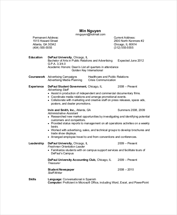 Beautiful Entry Level Computer Science Resume 89 On Good Objective