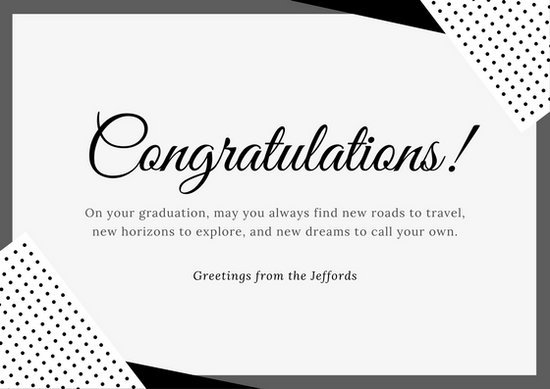 Customize 212+ Congratulations Card templates online   Canva