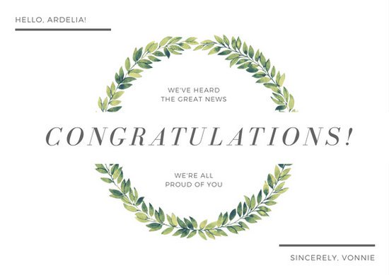 Congratulations Card Template   MS Office Guru