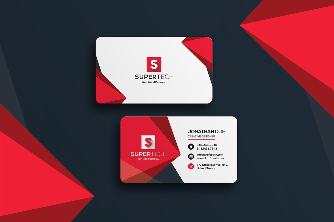 Corporate Business Card #19 ~ Business Card Templates ~ Creative