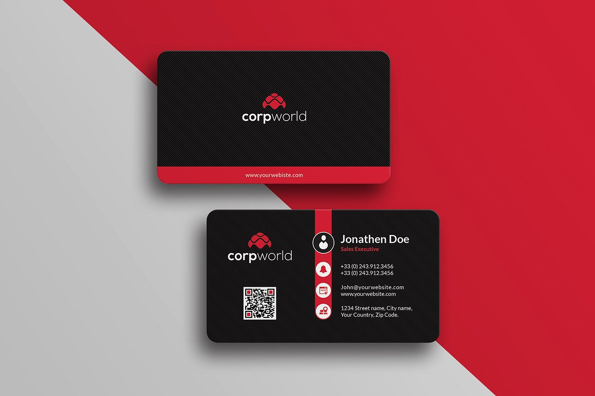 Corporate Business Card #25 ~ Business Card Templates ~ Creative