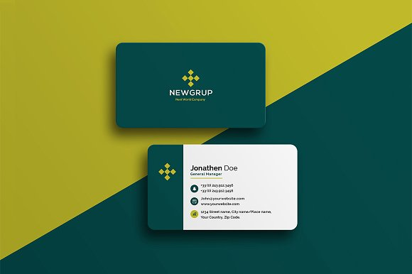 Corporate Business Card #22 ~ Business Card Templates ~ Creative