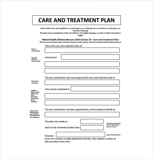 13 Treatment Plan Templates Free Sample Example Format