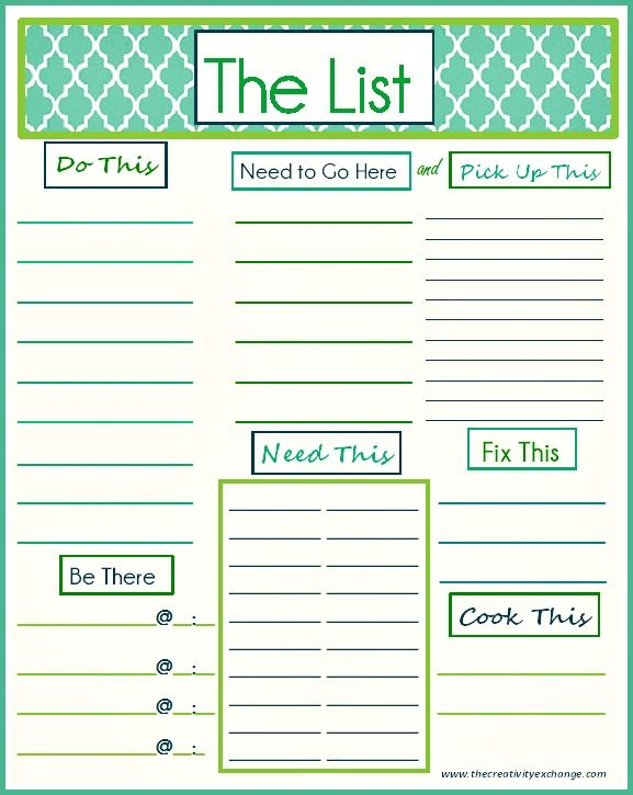 Daily Printable To Do List Templates Daily To Do List   DC Design