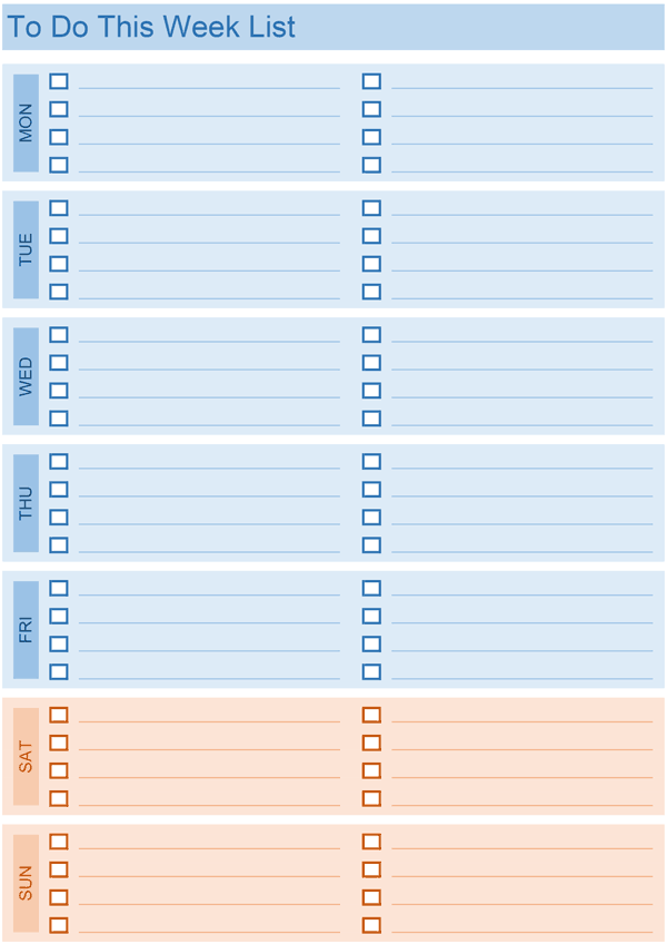 20 Printable To Do Lists And Task List Templates
