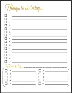 daily to do list template   List Templates