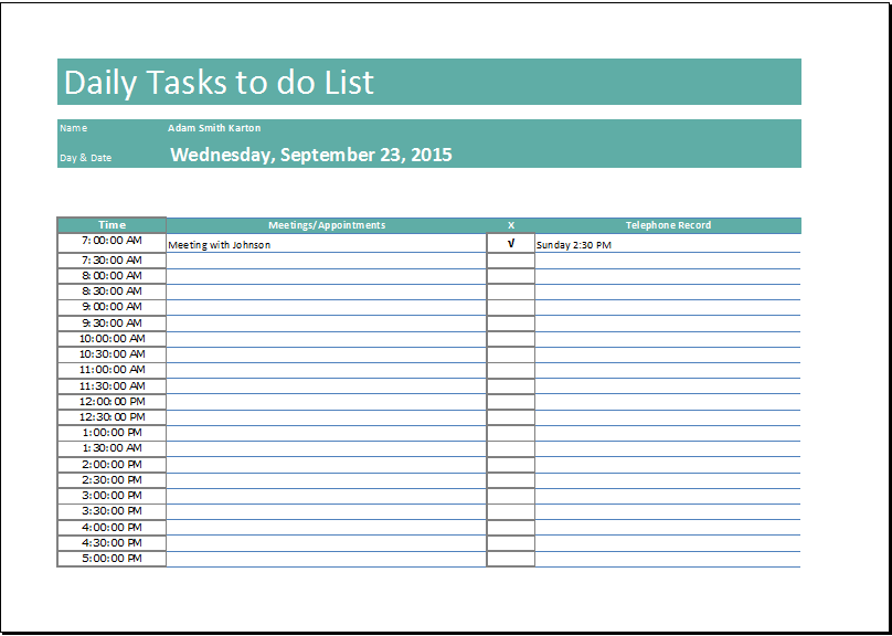 To Do List   13+ Free Word, Excel, PDF Documents Download | Free