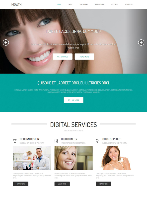Dental Web Template   Health   Website Templates   DreamTemplate