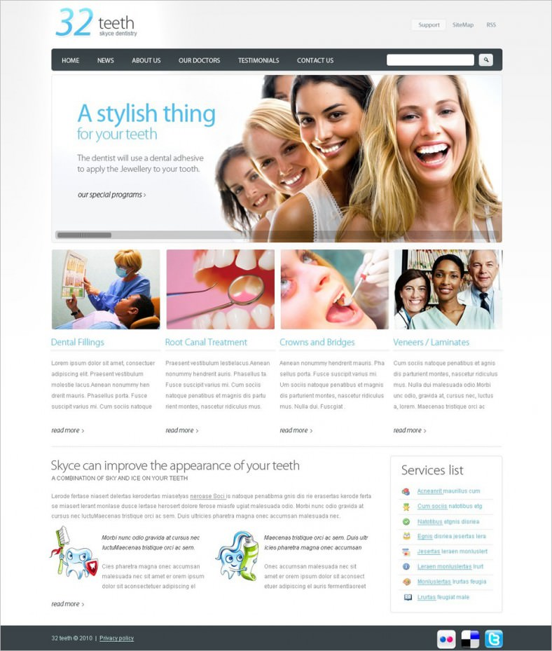 10+ Best Dentist Website Templates|Free & Premium Themes | Free